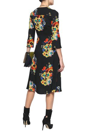 ETRO Floral-print crepe dress