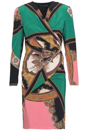 ETRO Wrap-effect gathered silk dress