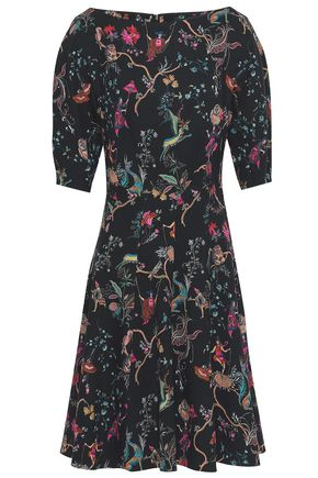 ETRO Printed stretch-wool dress