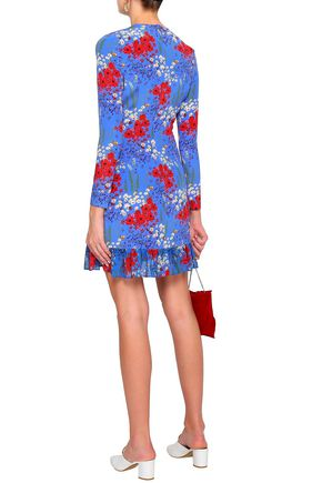 MOTHER OF PEARL Peggy floral-print stretch-silk mini dress