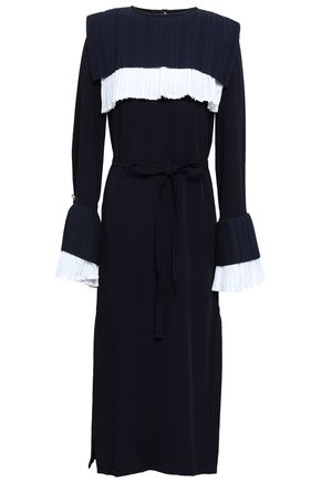 MOTHER OF PEARL Pintucked cady midi dress
