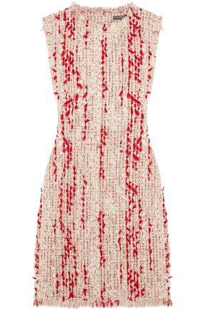 ALEXANDER MCQUEEN Frayed tweed mini dress