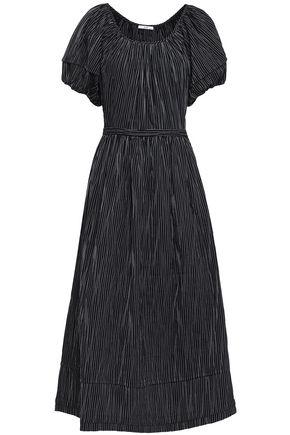 CO Striped cotton-blend jacquard midi dress