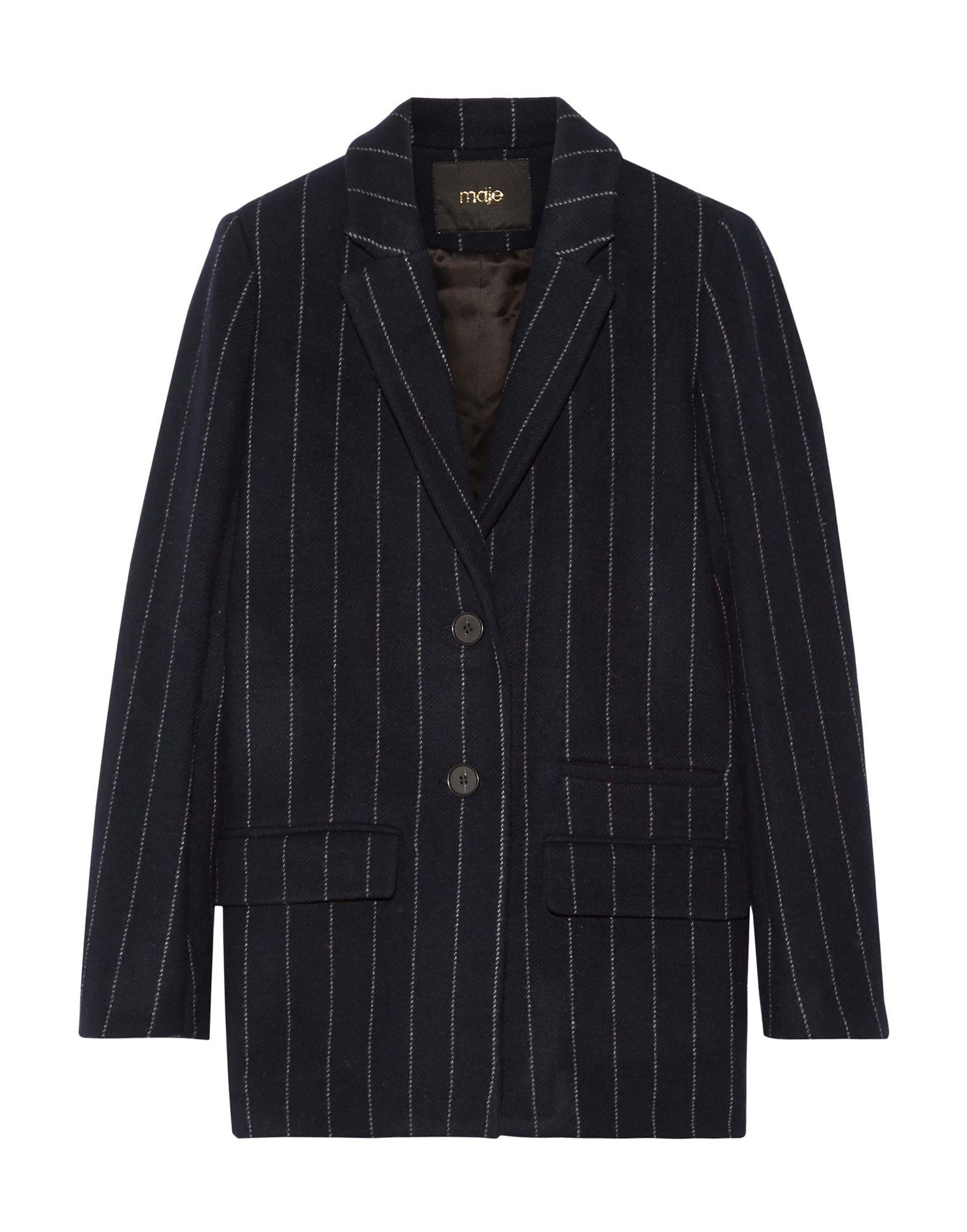 MAJE Пальто 2016 осенью дамы сукно slim шерстяные пальто в длинные пальто