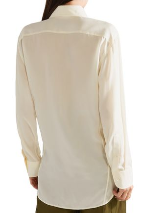 TOM FORD Pleated cupro-twill shirt