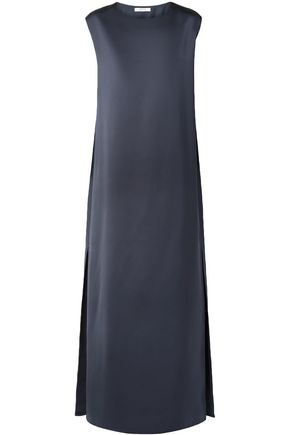THE ROW Cape-effect silk-duchesse satin maxi dress
