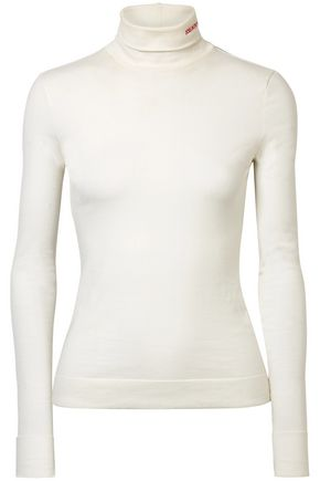 CALVIN KLEIN 205W39NYC Cotton-jersey turtleneck top