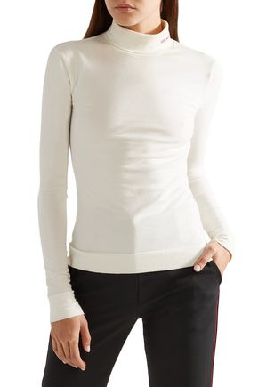 CALVIN KLEIN 205W39NYC Cotton-jersey turtleneck top
