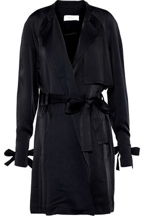 A.L.C. Kendall washed-satin mini wrap dress