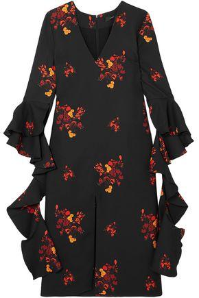 ELLERY Reuben floral-print ruffled crepe midi dress