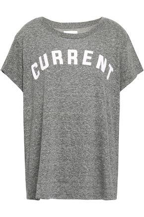 CURRENT/ELLIOTT Flocked mélange jersey T-shirt