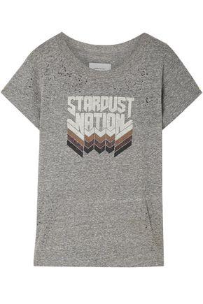 CURRENT/ELLIOTT Printed stretch-jersey T-shirt