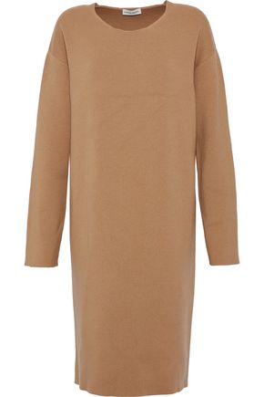 MANSUR GAVRIEL Mélange ribbed-knit wool-blend dress