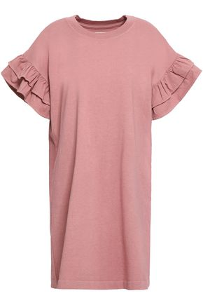 CURRENT/ELLIOTT Ruffle-trimmed cotton-jersey mini dress