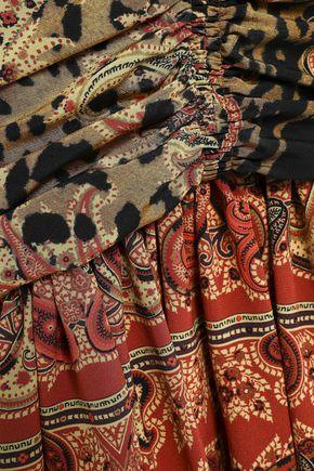 ETRO Ruched printed silk crepe de chine mini dress
