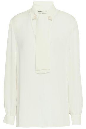 ETRO Pussy-bow silk crepe de chine blouse