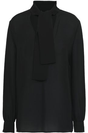 Pussy Bow Silk Crepe De Chine Blouse by Etro