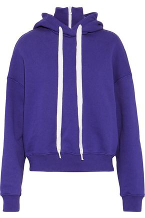 GOEN.J French cotton-terry hooded sweatshirt
