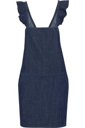 JOIE Mikki ruffle-trimmed denim mini dress