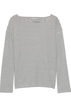 VINCE. Striped Pima cotton-jersey top