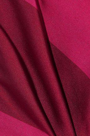 CAROLINA HERRERA Strapless bow-embellished striped satin dress