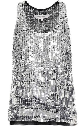 CAROLINA HERRERA Sequined tulle top