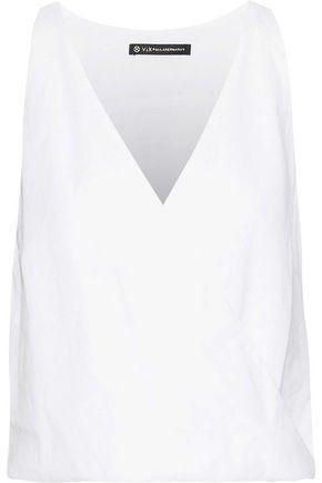VIX PAULA HERMANNY Wrap-effect linen-blend top