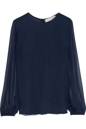 CAROLINA HERRERA Silk-chiffon blouse