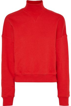 GOEN.J French cotton-terry turtleneck top