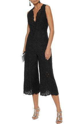 JONATHAN SIMKHAI Cropped broderie anglaise cotton jumpsuit