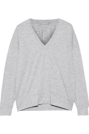VINCE. Mélange stretch-jersey top