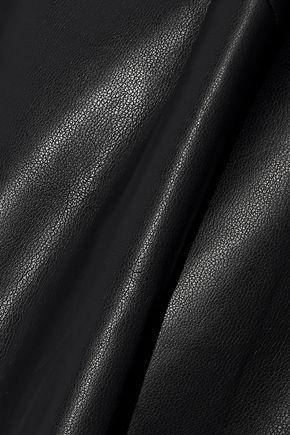 GOEN.J Faux leather top