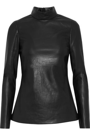 GOEN.J Faux leather top
