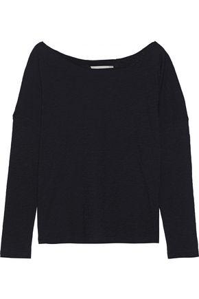 VINCE. Mélange Pima cotton-jersey top
