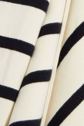GOEN.J Layered striped stretch-cotton jersey top