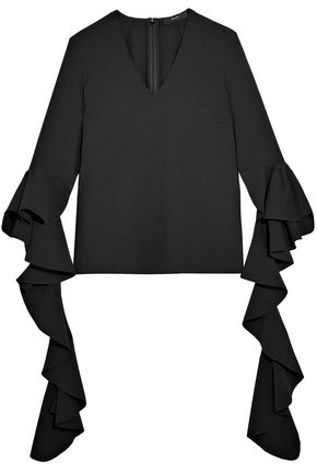 ELLERY Ruffled crepe top