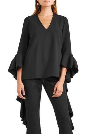 ELLERY Ace ruffled crepe blouse