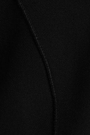 AMANDA WAKELEY Grosgrain-trimmed stretch-ponte dress