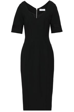 AMANDA WAKELEY Grosgrain-trimmed stretch-ponte dress