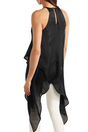 GARETH PUGH Draped silk-chiffon top