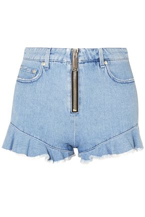 MSGM Ruffled denim shorts