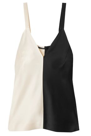 HAIDER ACKERMANN Two-tone crepe-satin camisole