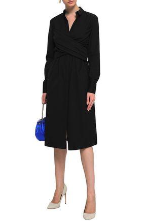VIONNET Cotton-blend poplin shirt dress