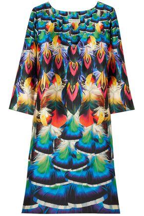 MARY KATRANTZOU Shea printed silk-satin twill mini dress