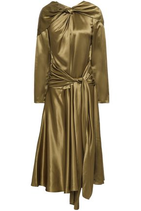 VIONNET Silk-satin midi dress