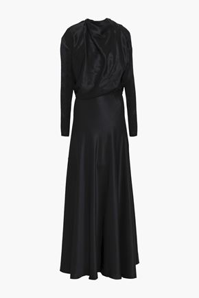 VIONNET Silk-satin maxi dress