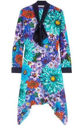 MARY KATRANTZOU Printed floral-print silk-georgette mini dress