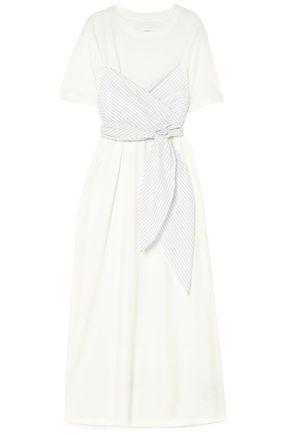 MM6 MAISON MARGIELA Paneled cotton-jersey and poplin maxi dress
