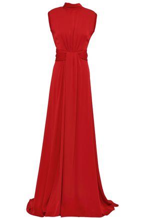 VIONNET Cutout silk-blend crepe gown