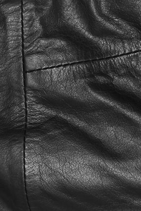 ANN DEMEULEMEESTER Strapless lace-up leather bandeau top